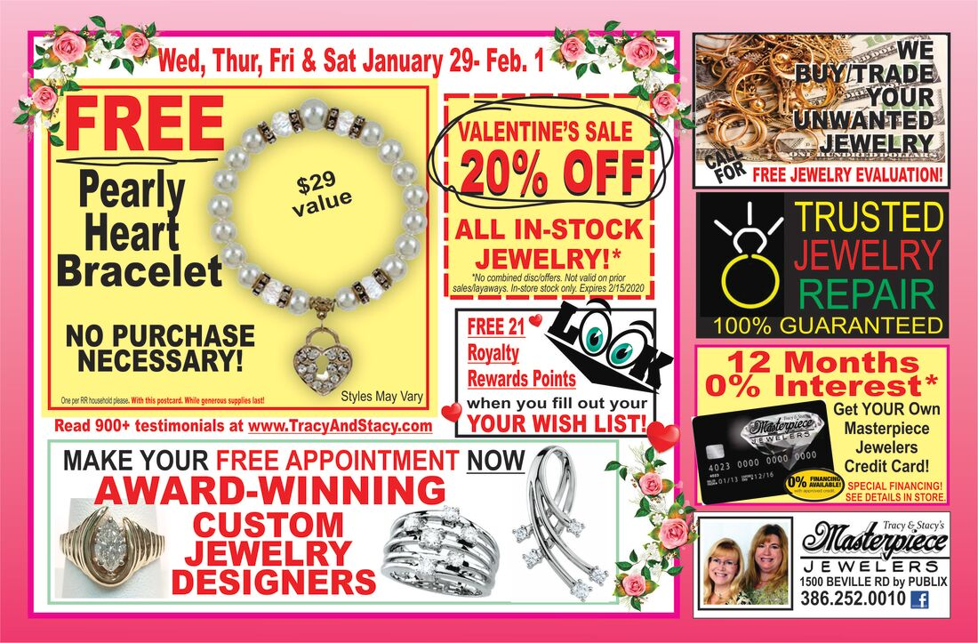 Sale on Daytona Beach Florida jewelry this week at Masterpiece Jewelers.