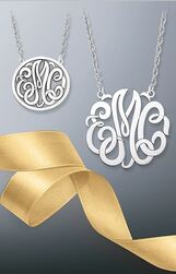 Give engraved jewelry and monograms this holiday season.