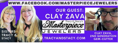 Join gem cutter Clay Zava at https://www.facebook.com/masterpiecejewelers