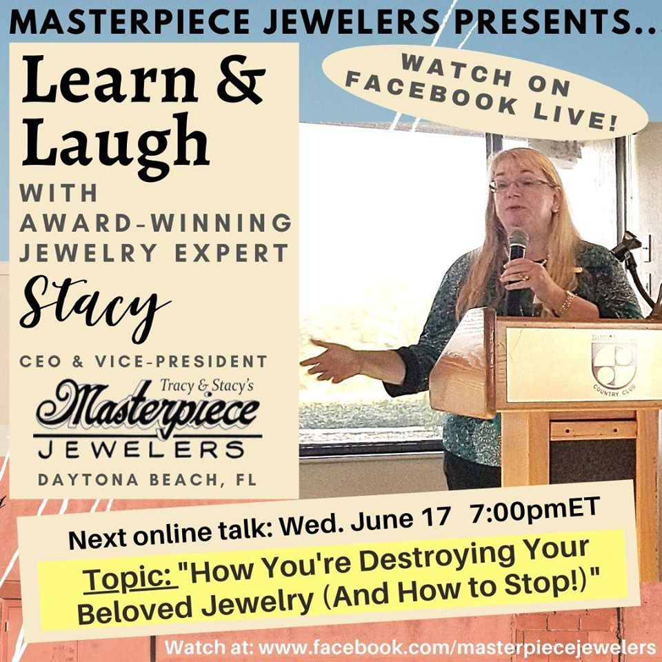 Daytona Beach jeweler provides free seminar on Facebook, Masterpiece Jewelers.