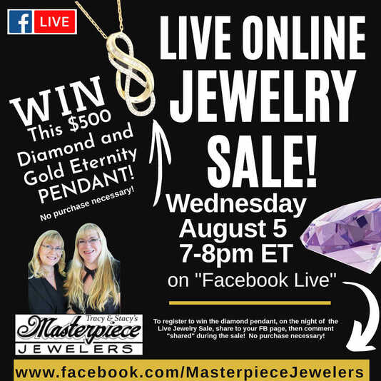 Join your Daytona family jewelers 8-5-2020 for a big online sale at https://www.facebook.com/masterpiecejewelers.
