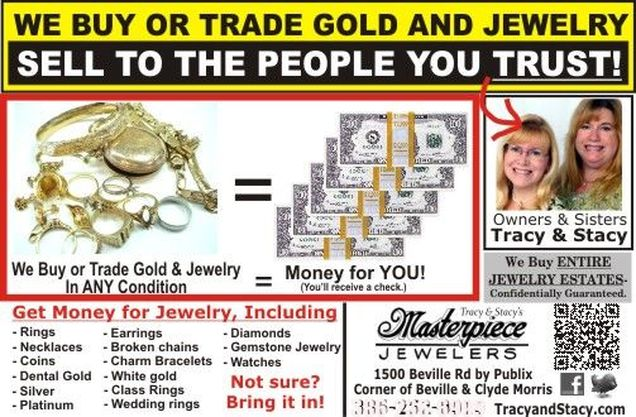 Sell gold at Masterpiece Jewelers in Florida.
